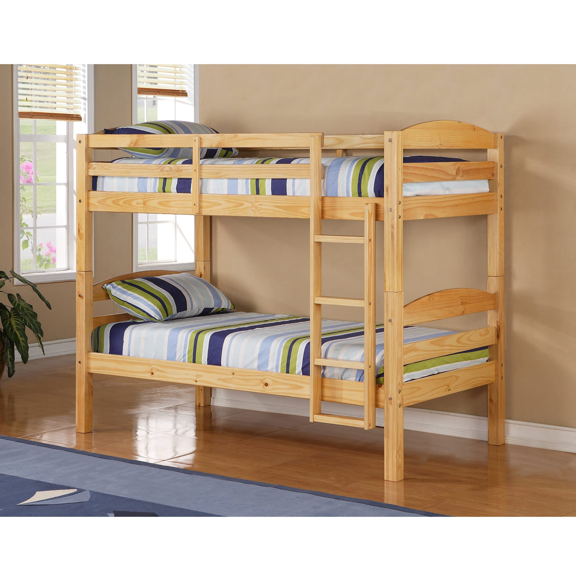 Carolina Twin Over Twin Bunk Bed Natural By Walker Edison