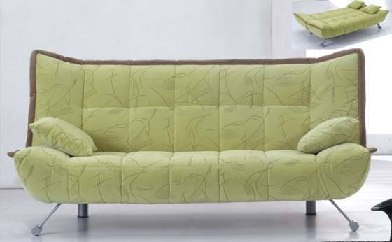 Barcelona sofa bed light green for Light green sectional sofa