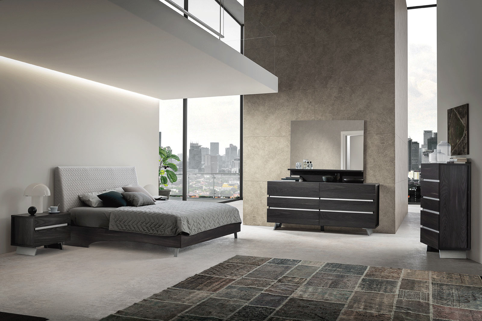 cupboard furniture esf bedrooms modern bedroom black w set wsilver aida silver