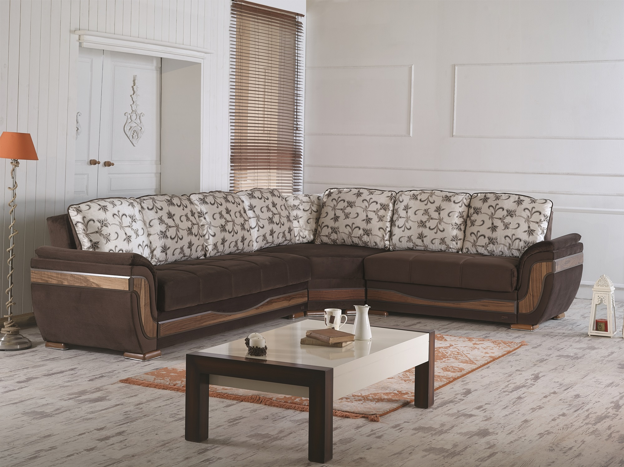 Belmont Sectional Sofa By Empire Furniture Usa