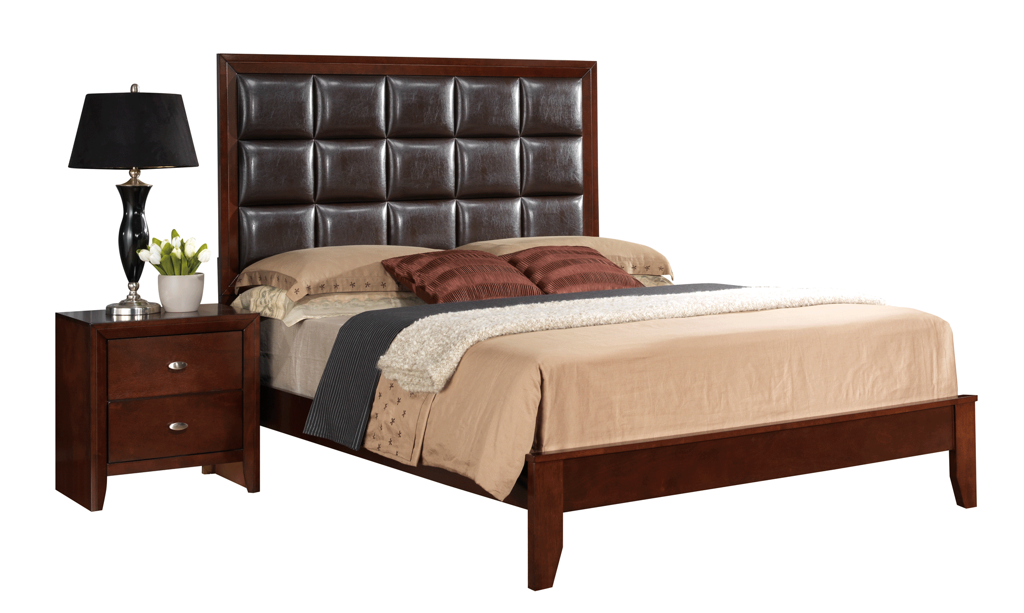 Carolina merlot bedroom set by global furniture for Carolina furniture