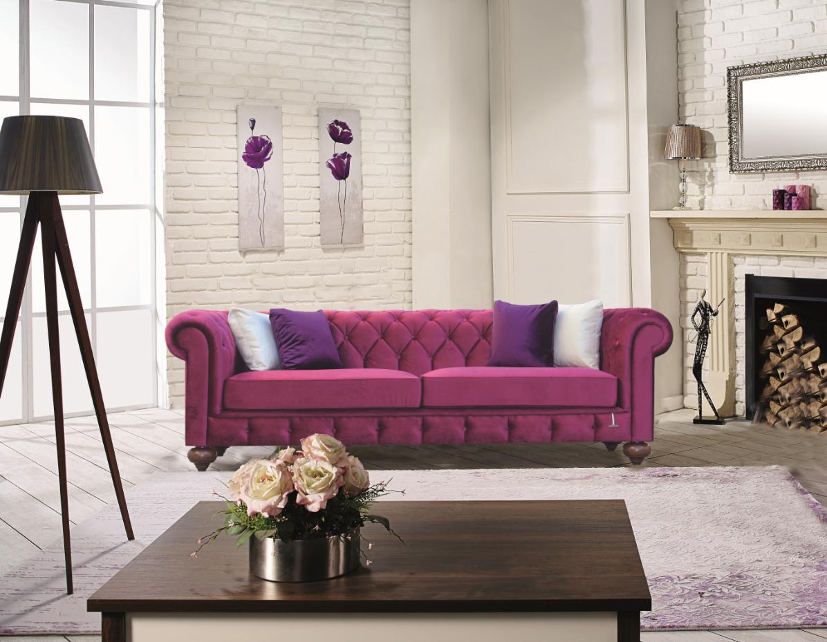 Chester Burgundy Sofa By Casamode (Casamode)