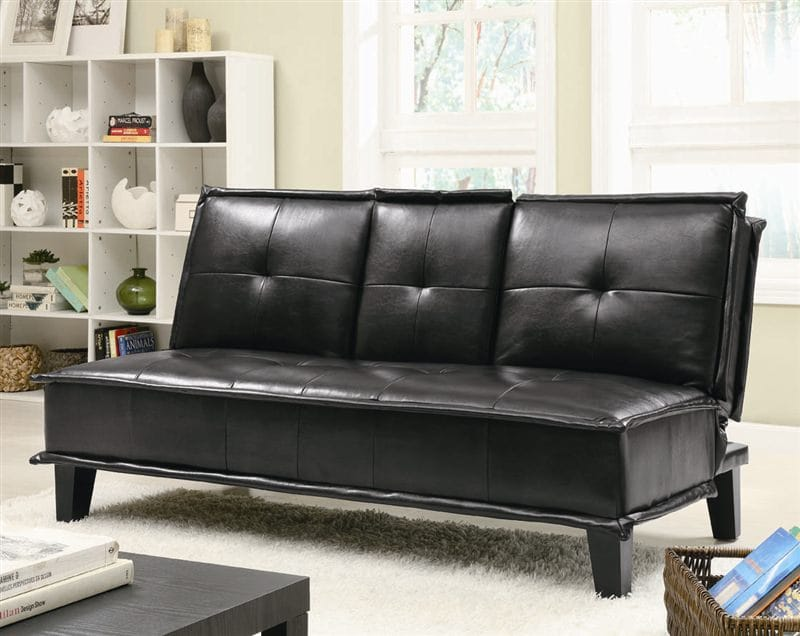 300138 Sofa Bed in Black by Coaster
