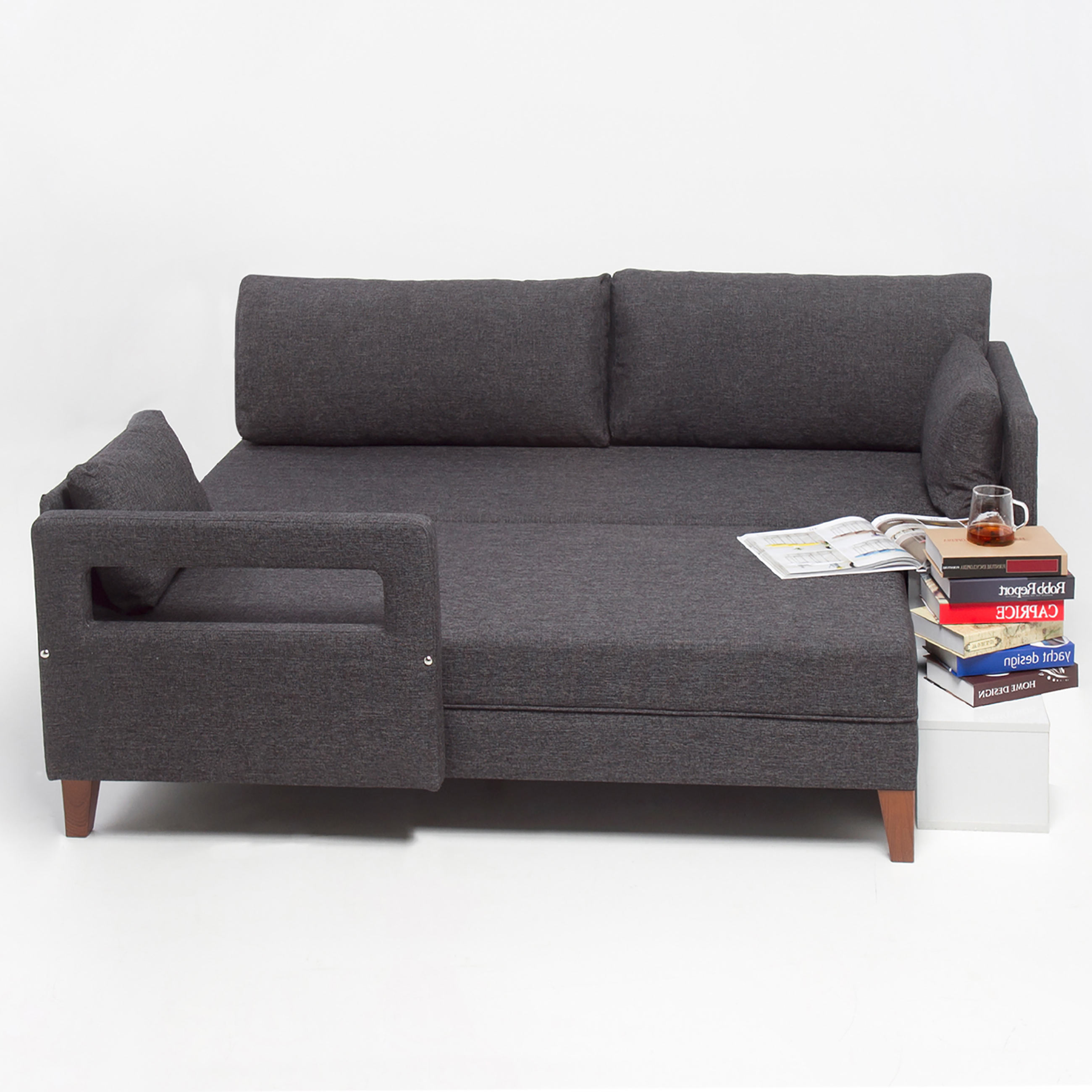 Furniture Usa Of Comfort Gray Fabric Sectional Sofa By Empire Furniture Usa