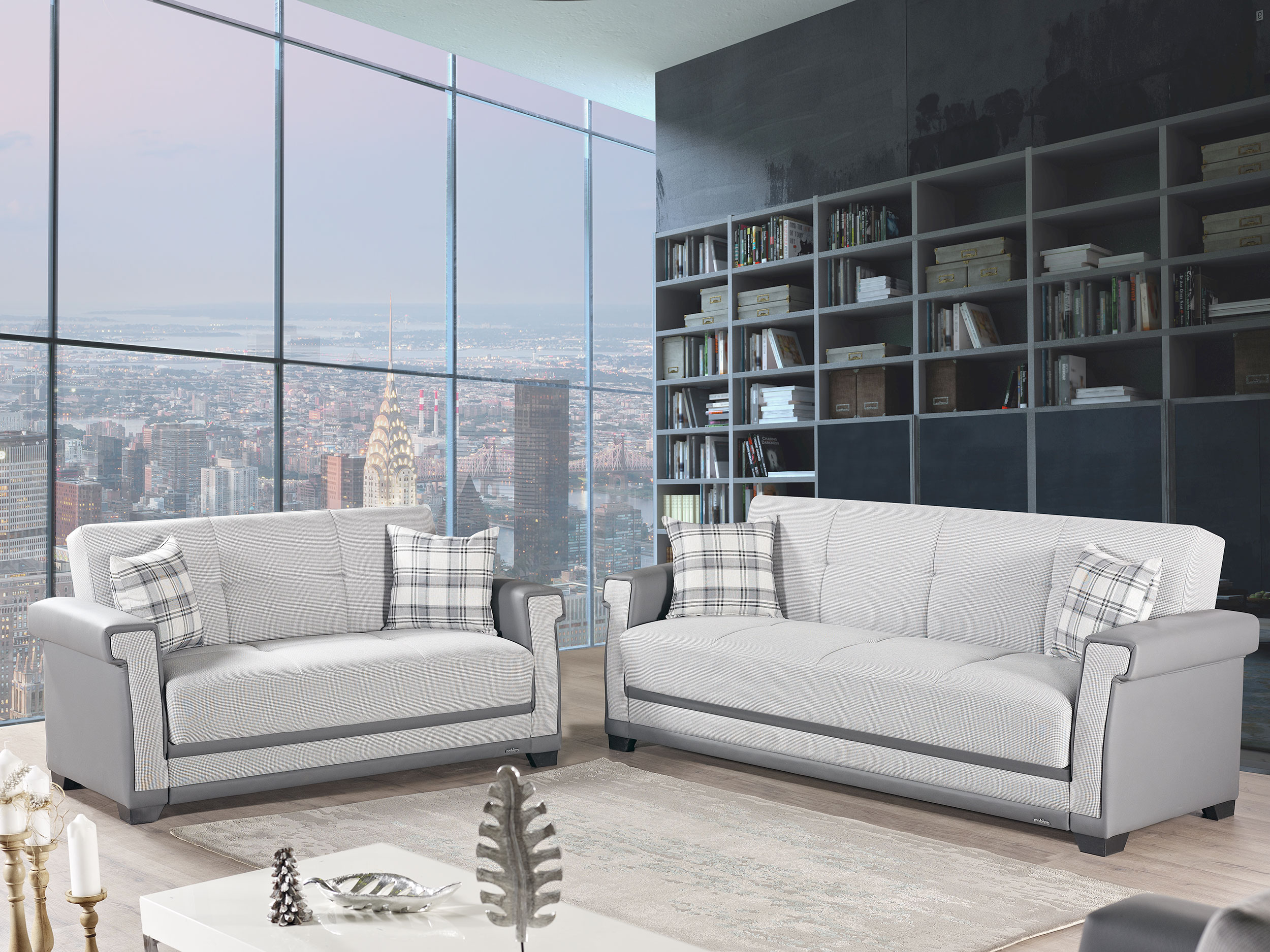 Cornella Light Gray Sofa Bed By Mobista