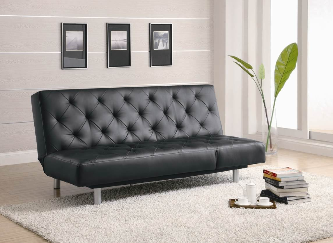 300304 Sofa Bed In Black By Coaster (Coaster Fine Furniture)