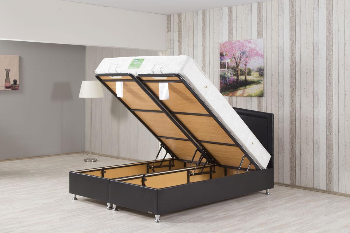 aven modern platform bed