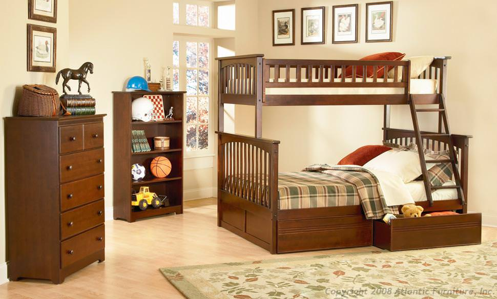 Columbia Antique Walnut Bunk Bed By Atlantic Furniture
