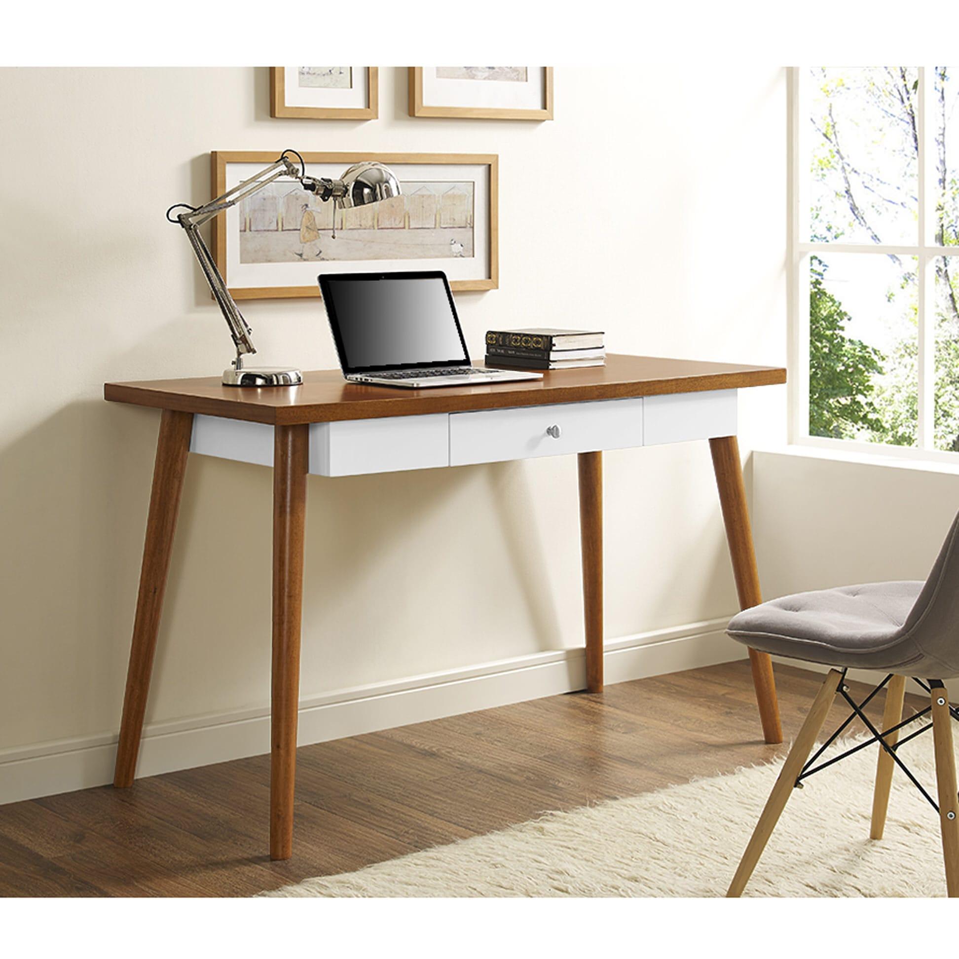 48 Inch Mid Century Wood Computer Desk By Walker Edison