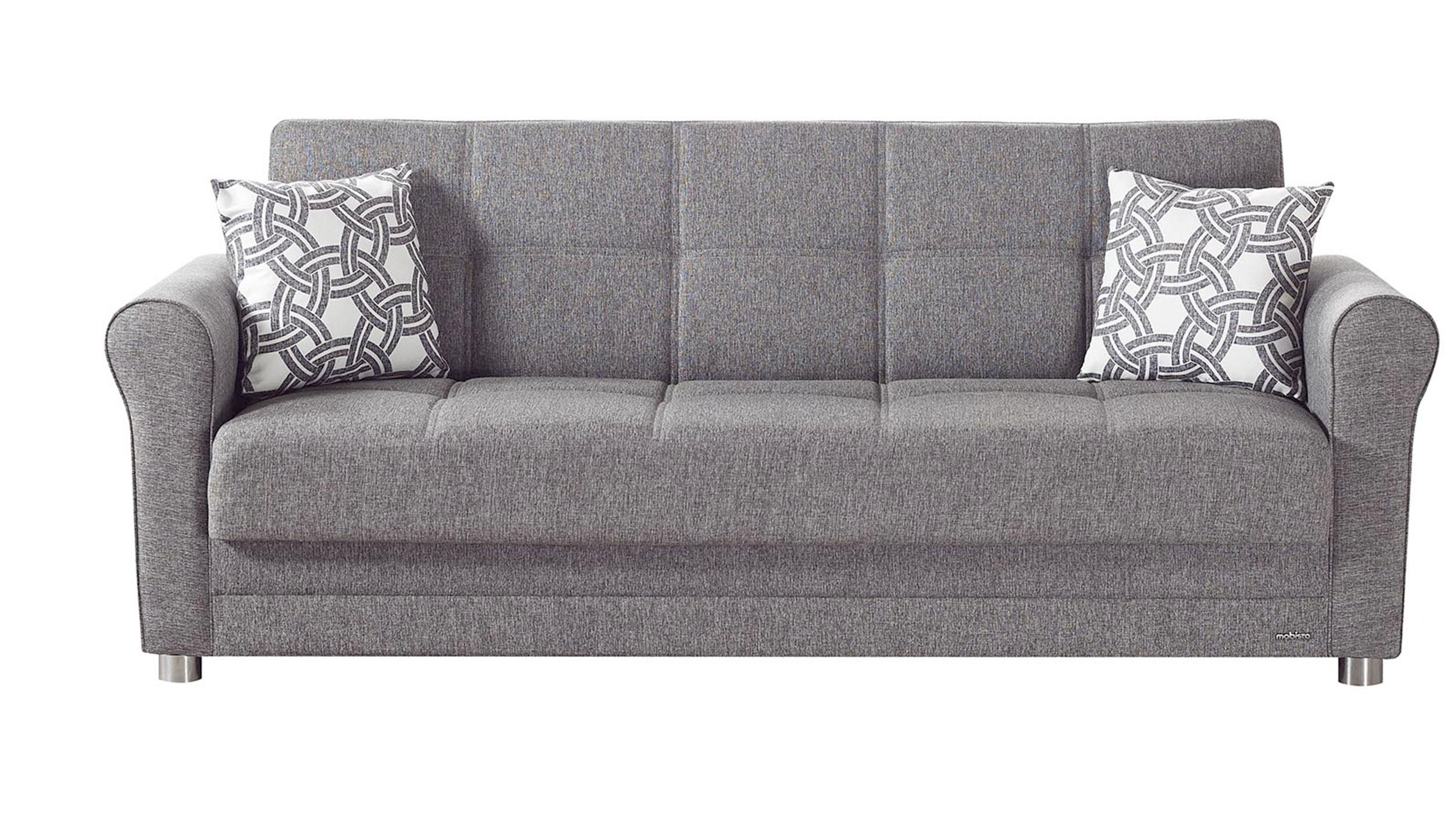 Divano gray sofa bed by mobista for Futon divano