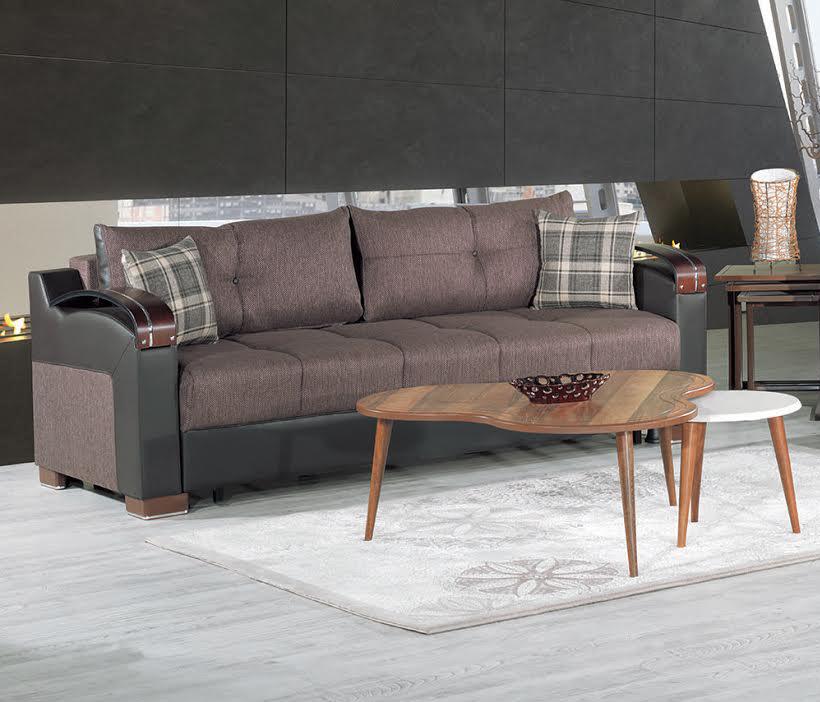 Divan Deluxe Kalinka Brown Convertible Sofa By Casamode - Divans convertibles