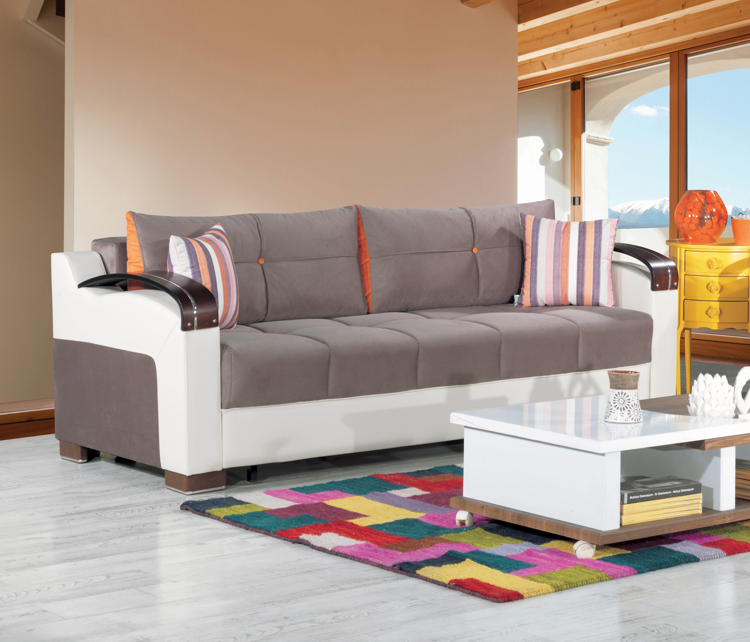 Divan Deluxe Golf Gray Convertible Sofa By Casamode - Divans convertibles