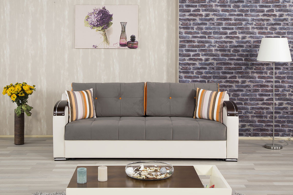 Divan deluxe golf gray convertible sofa bed by casamode for Divan convertible