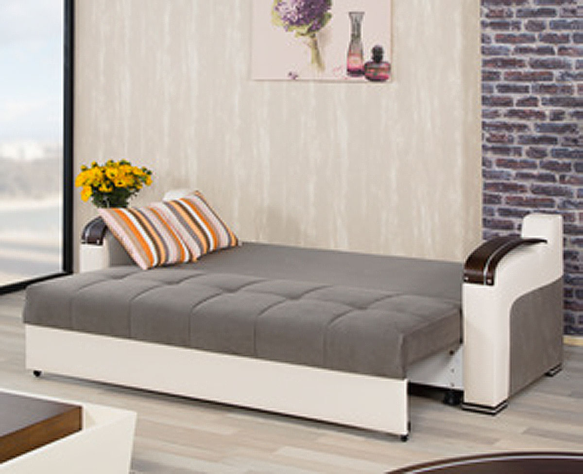 divan deluxe golf gray convertible sofa bed by casamode. Black Bedroom Furniture Sets. Home Design Ideas