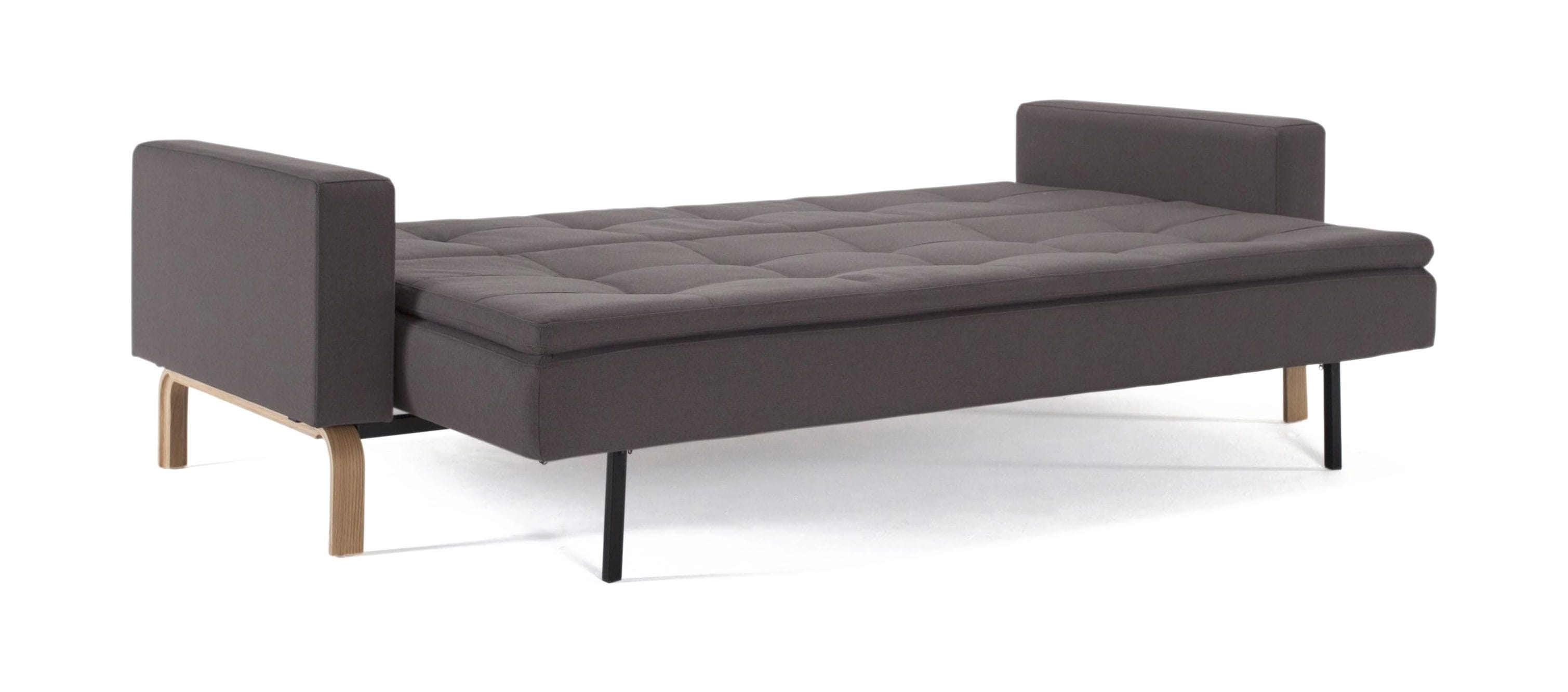 Cassius Dual Sofa Bed W/Arms (Full Size) Soft Gray By Innovation (