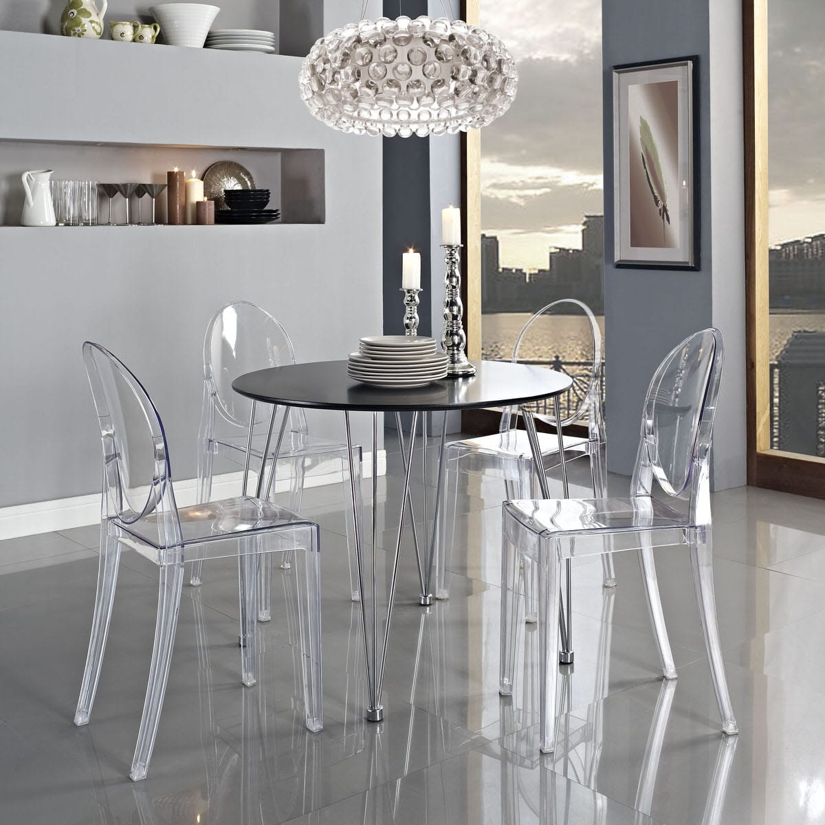 Fantastic Casper Dining Side Chair Clear By Modern Living Ocoug Best Dining Table And Chair Ideas Images Ocougorg