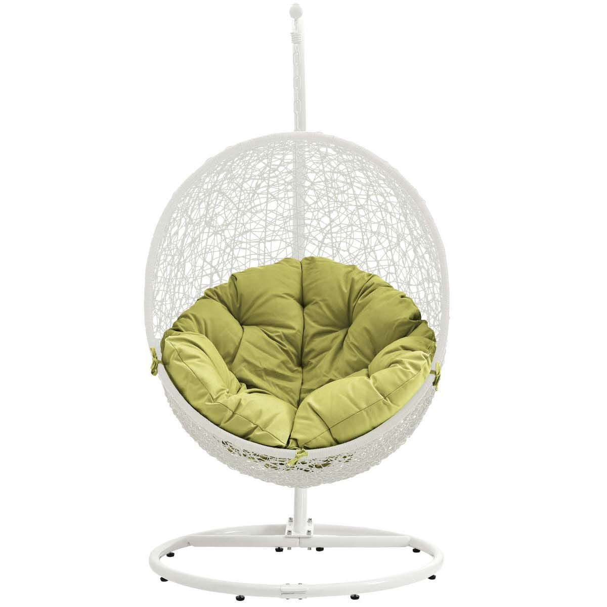 Hide Outdoor Patio Swing Chair With Stand White Peridot By Modern Living  (Modern Living)