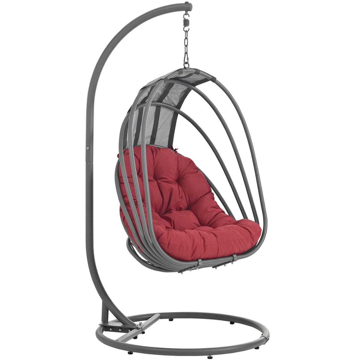 Whisk Outdoor Patio Swing Chair With Stand Red By Modern Living (Modern  Living)