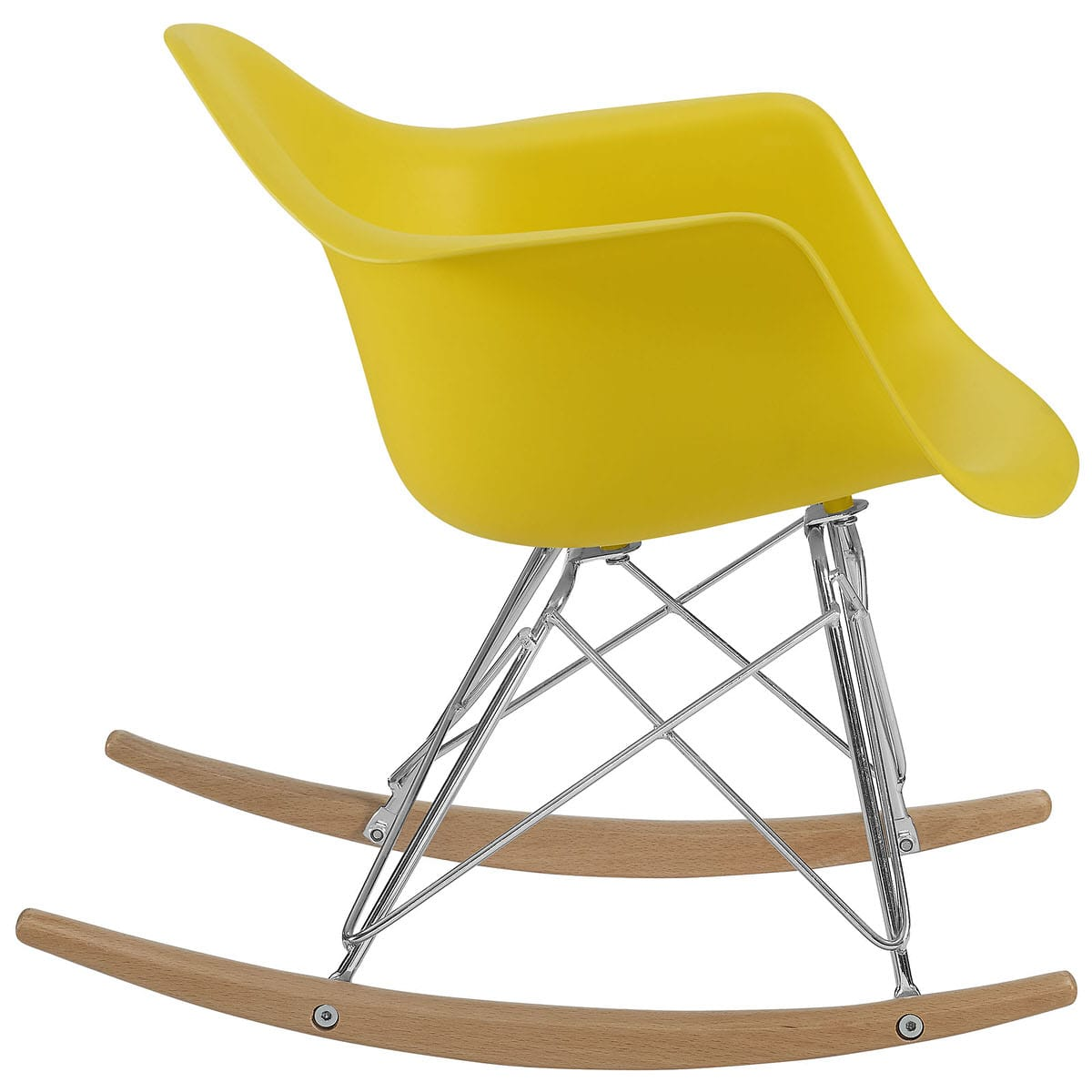 Strange Rocker Kids Chair Yellow By Modern Living Machost Co Dining Chair Design Ideas Machostcouk