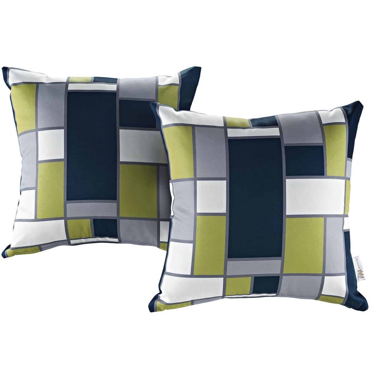 Modern Living Two Piece Outdoor Patio Pillow Set Rectangle By Modern