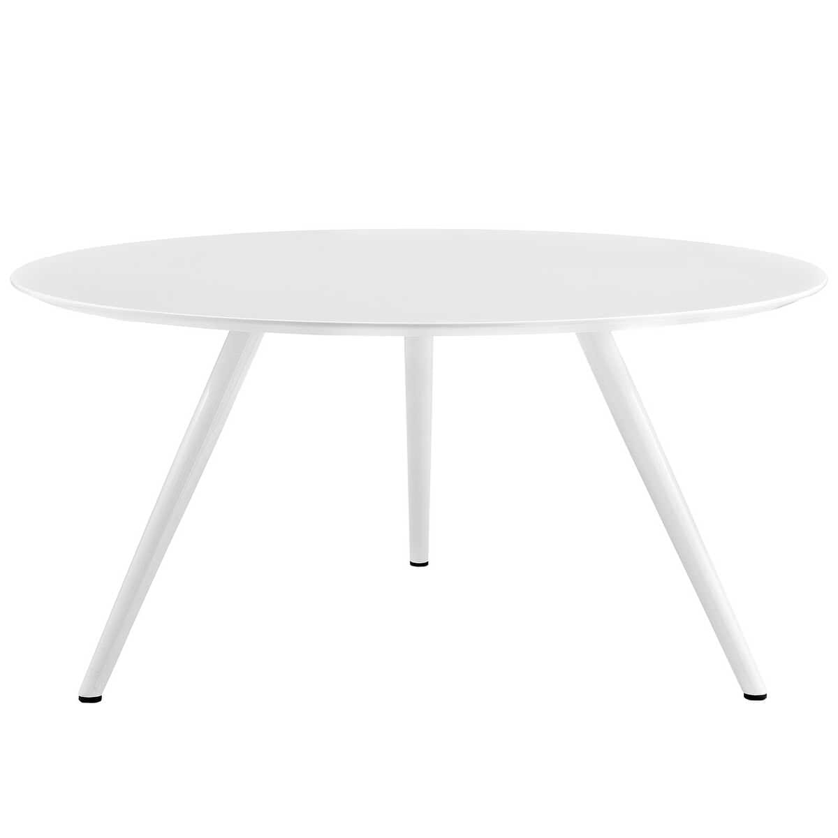Lippa Inch Round Wood Top Dining Table With Tripod Base White By - Modern 60 inch round dining table