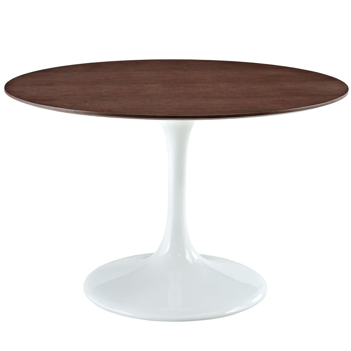 Lippa Inch Round Walnut Dining Table White By Modern Living - 48 inch round white dining table