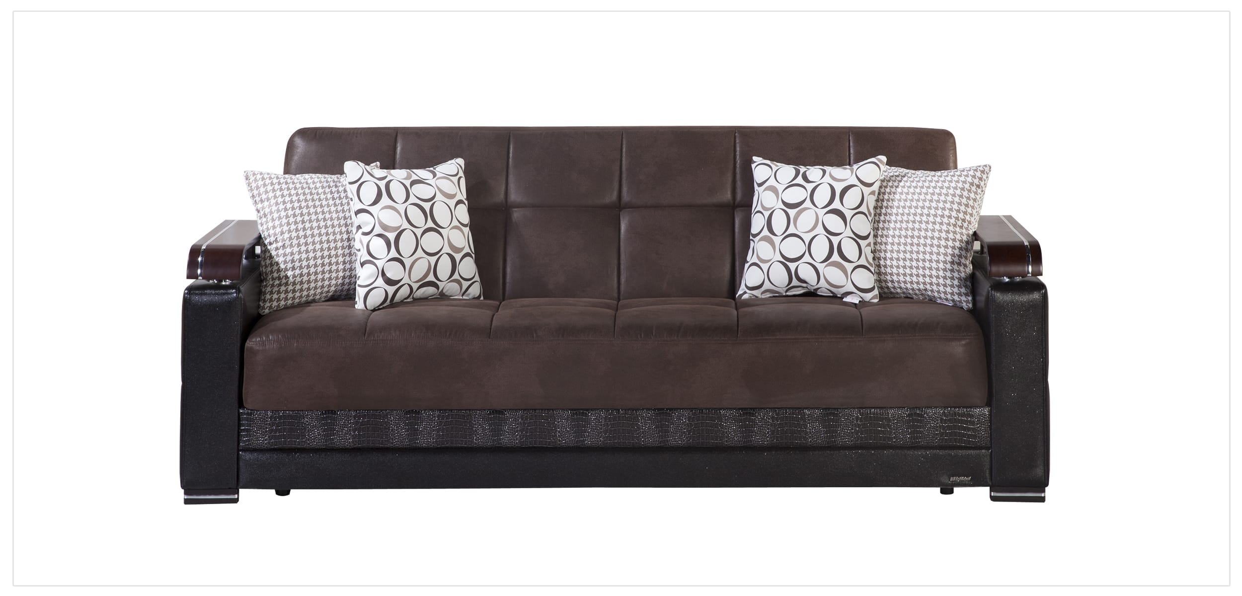 Ekol Chocolate Sofa Love Chair Set By Istikbal Sunset