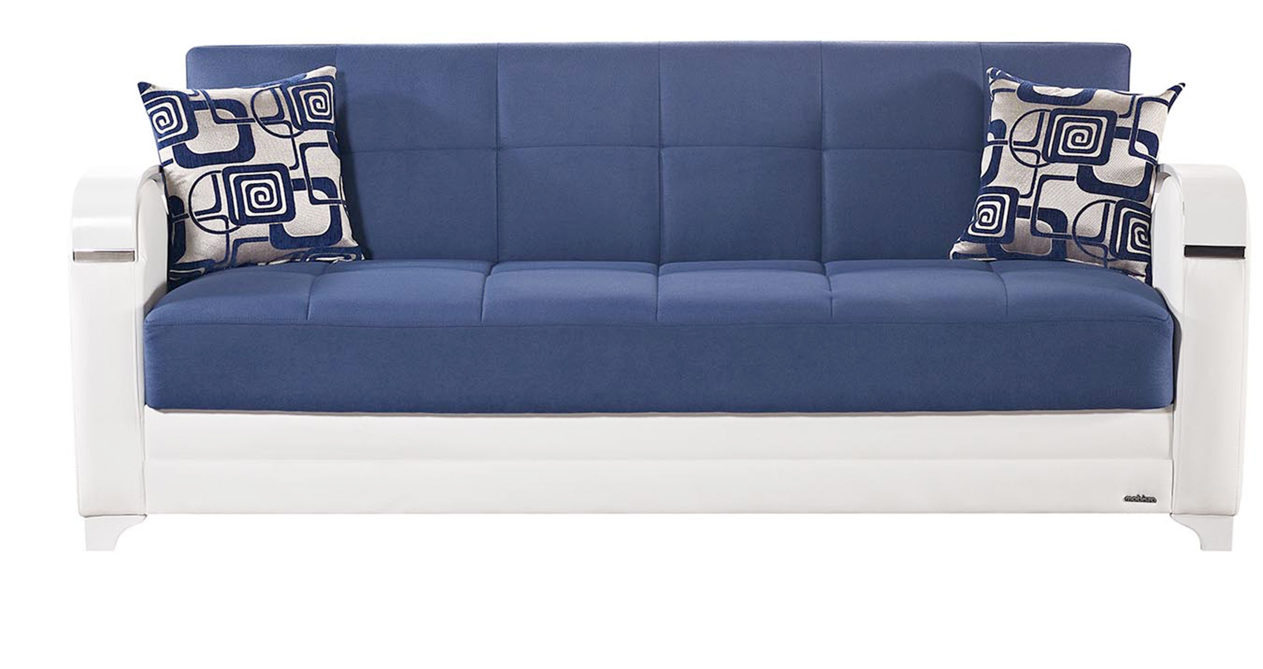 etro vintage navy blue fabric sofa bed by mobista. Black Bedroom Furniture Sets. Home Design Ideas