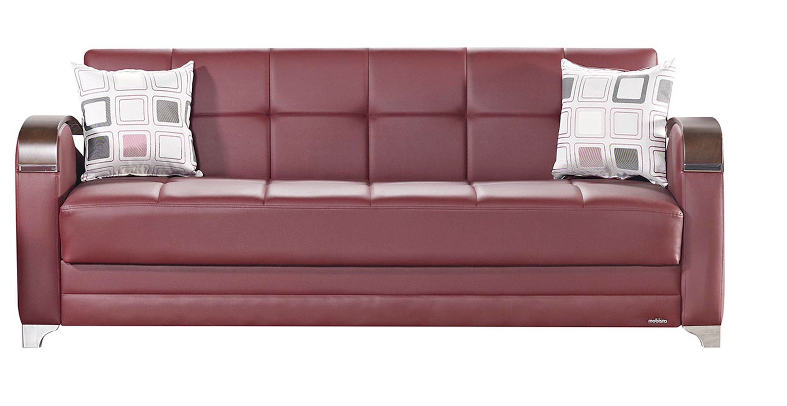 Etro Prestige Burgundy Leatherette Sofa Bed By Mobista