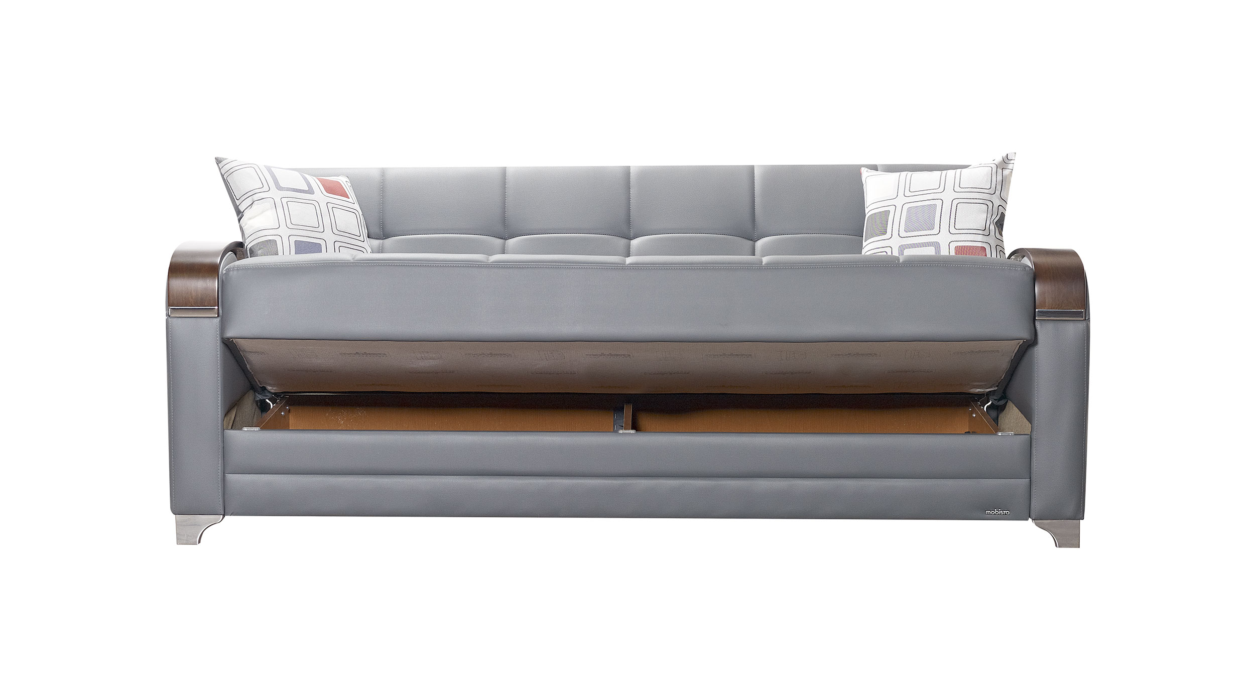Etro Prestige Dark Gray Leatherette Sofa Bed By Mobista