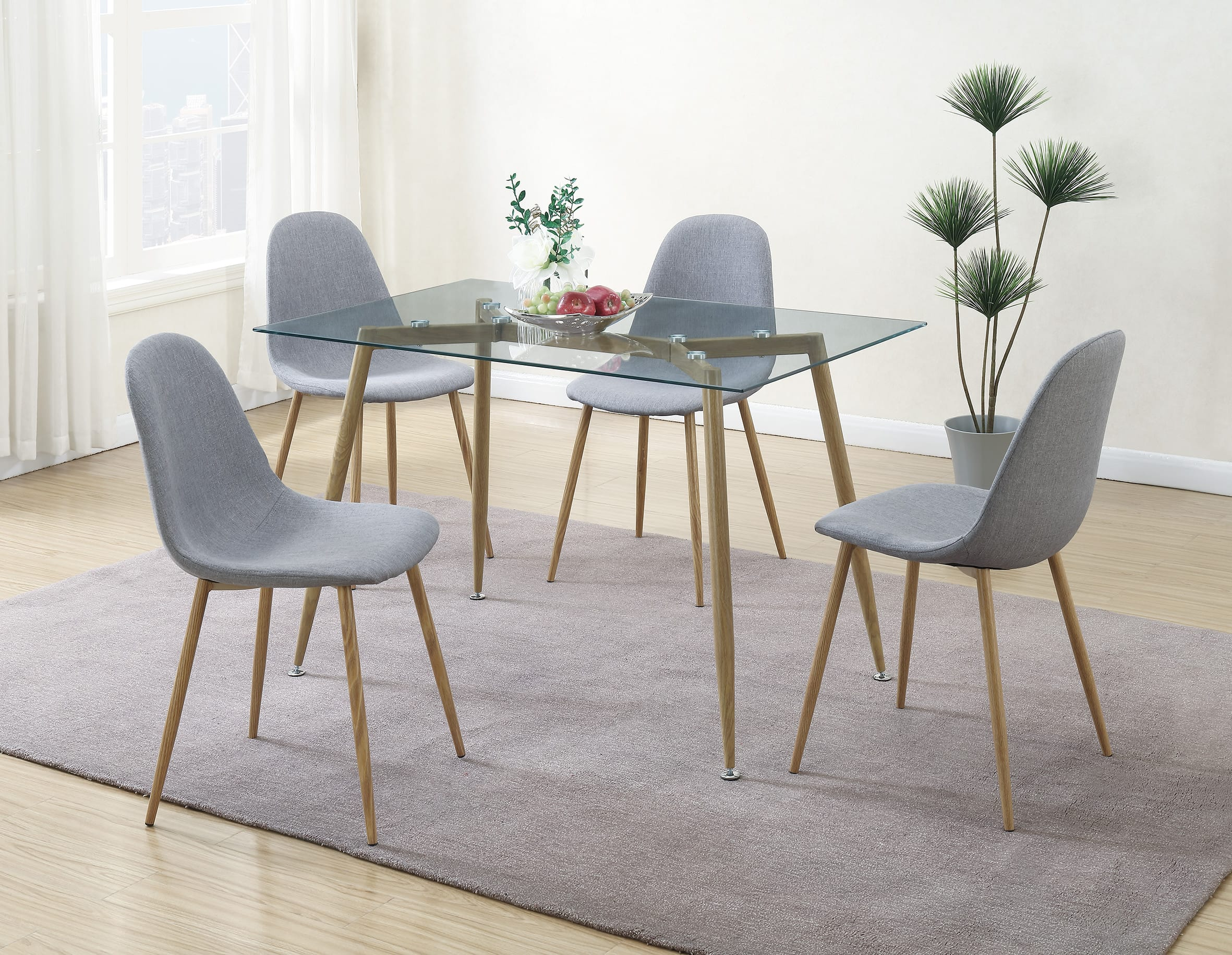 F1744 Gray Dining Chair By Poundex