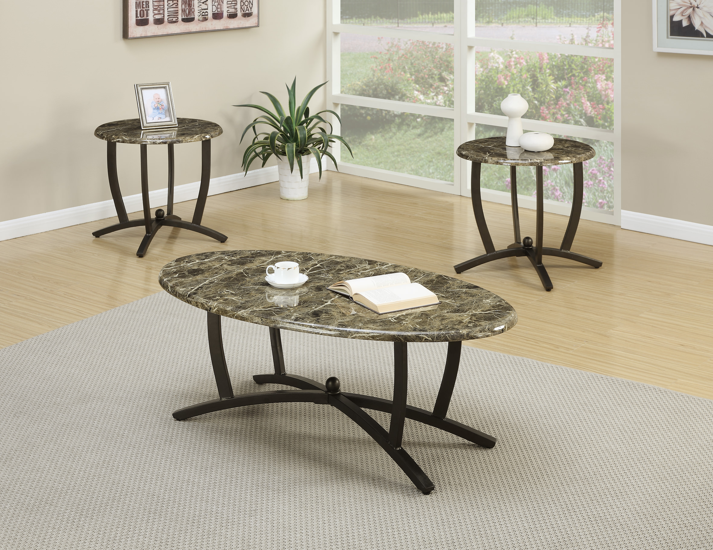 F3103 3 Pcs Table Set By Poundex Ociates Corporation