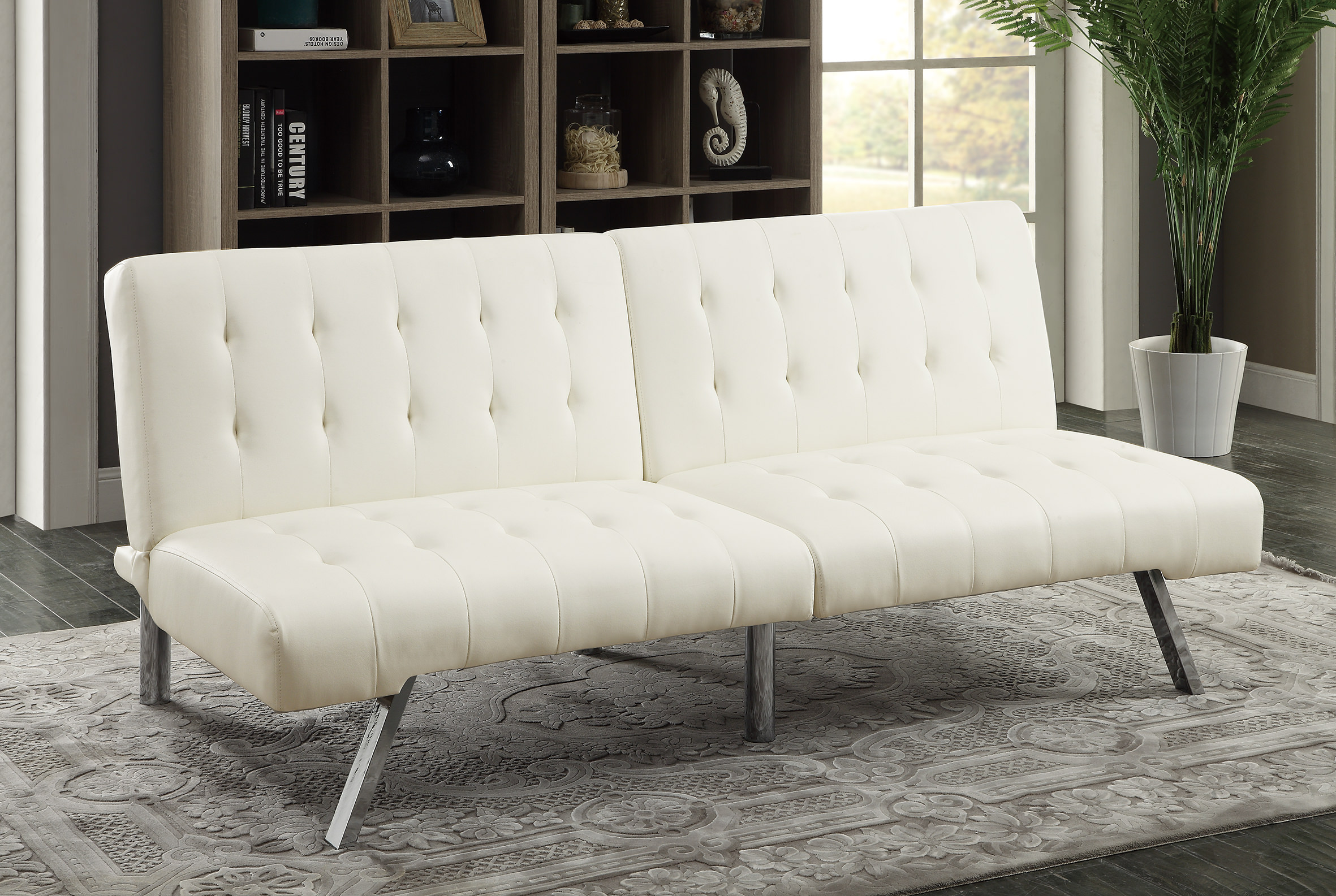 White Convertible Sofa Rooms