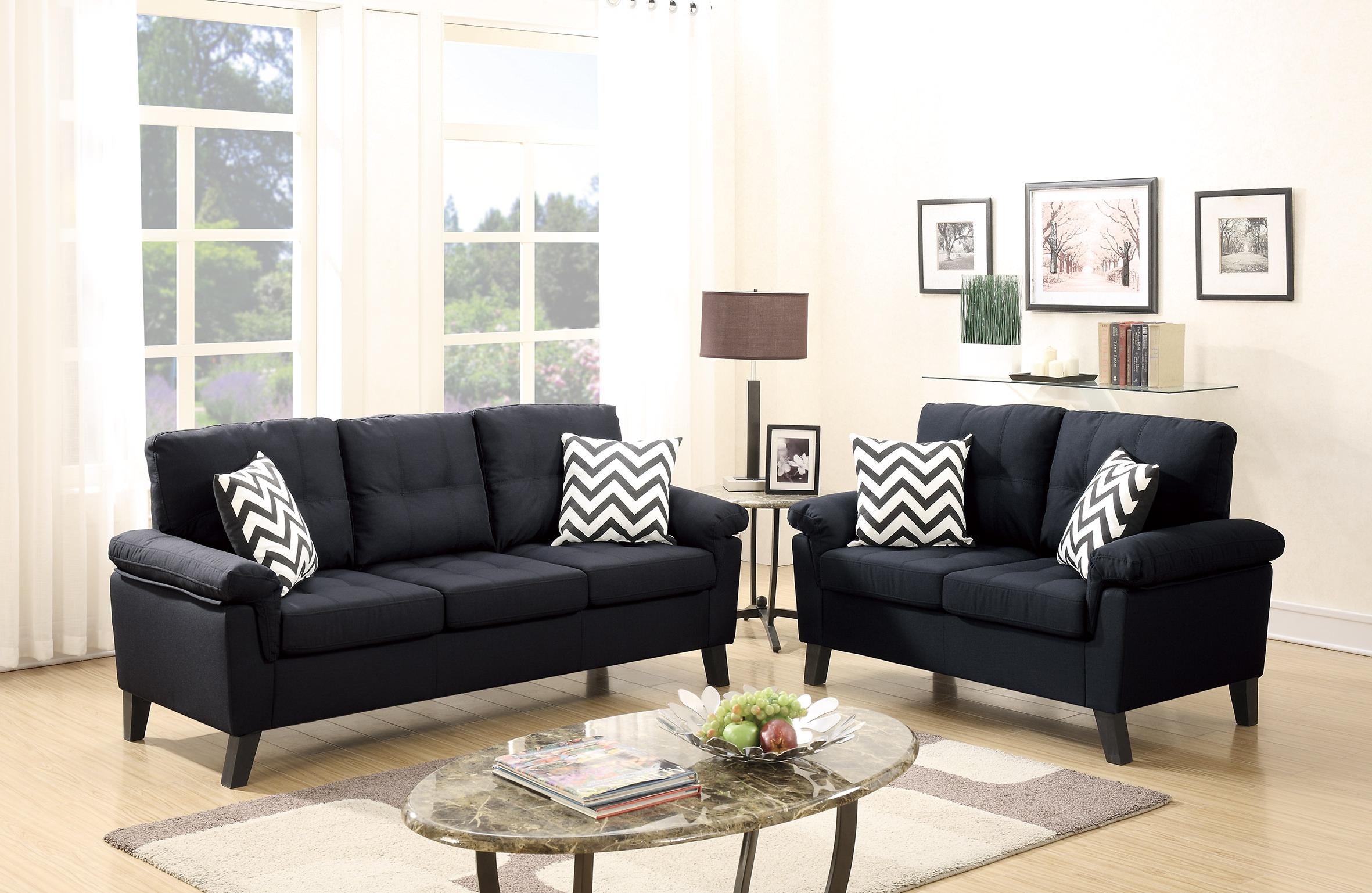 Super F6900 Black 2 Pcs Sofa Set By Poundex Creativecarmelina Interior Chair Design Creativecarmelinacom