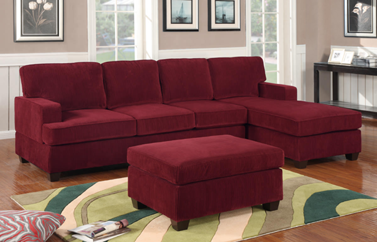 Wine Colored Sofa F7134 Wine Sectional Sofa Set By Poundex