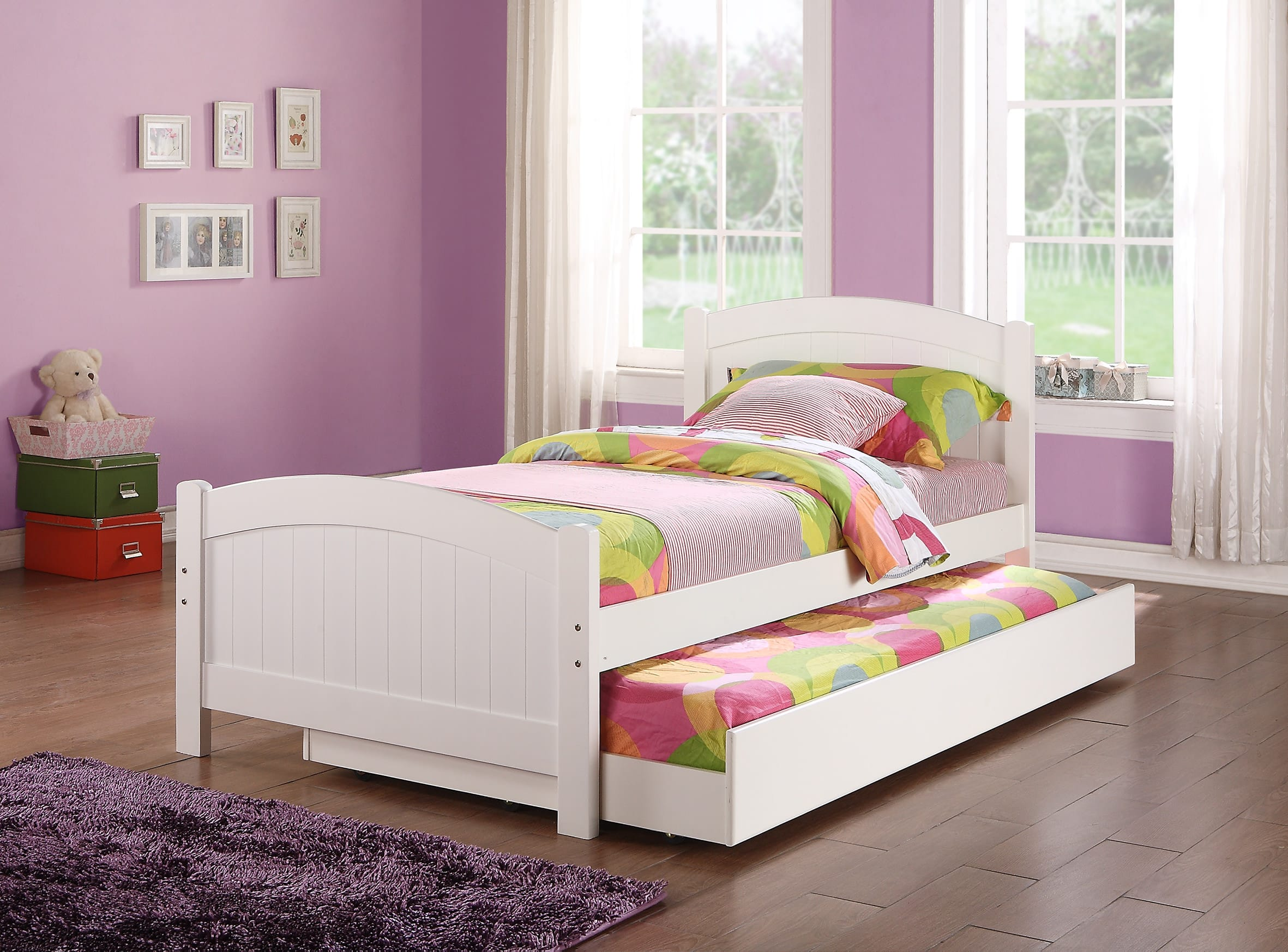 f9218 white twin bed by poundex poundex associates corporation - White Twin Bed Frame