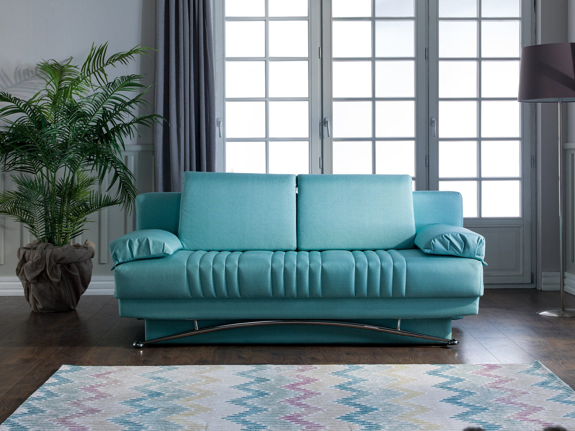 Fantasy Coton Seafoam Green Convertible Sofa Bed By Istikbal Furniture (Istikbal  Furniture)