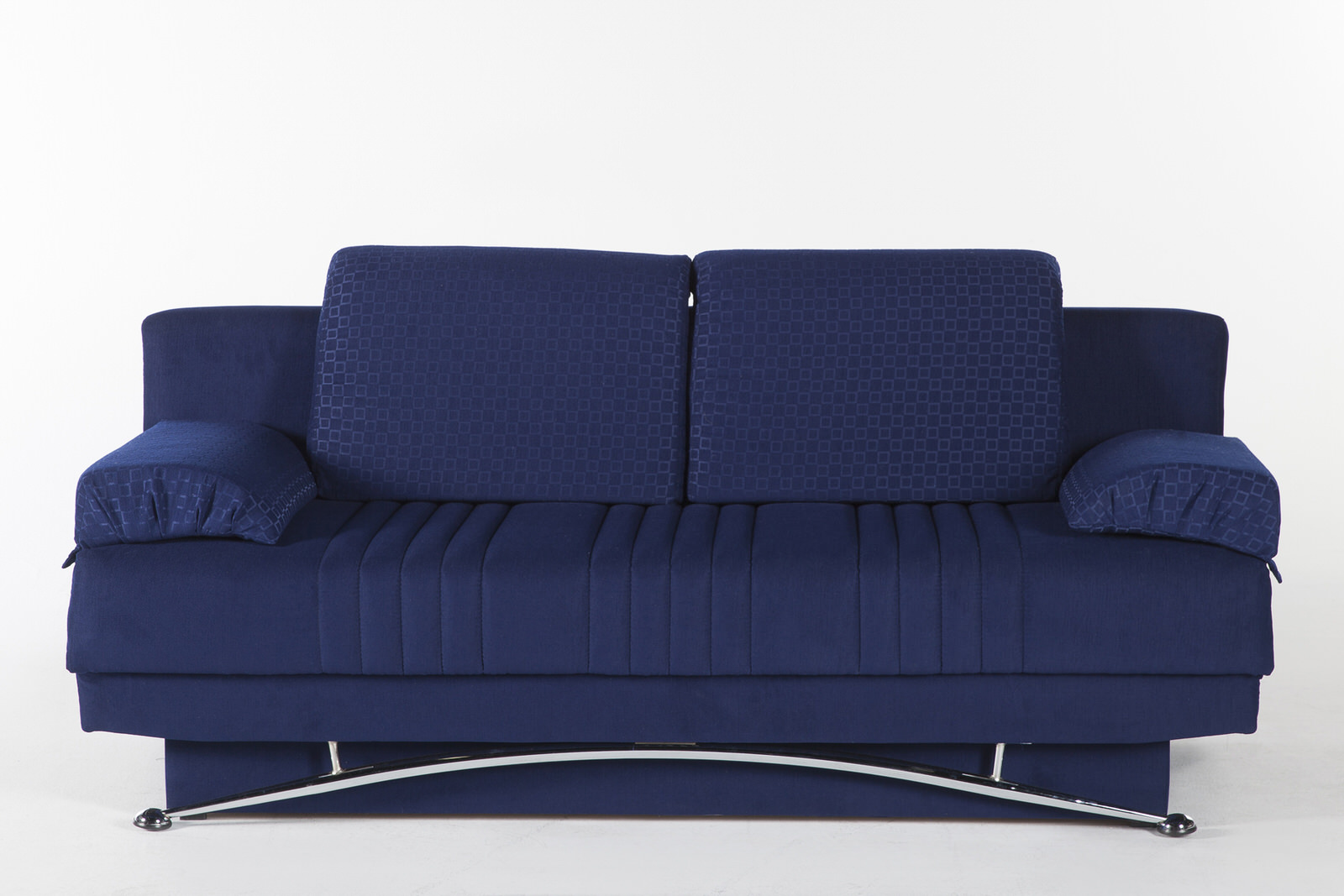 Fantasy Tetris Blue Convertible Sofa Bed by Sunset
