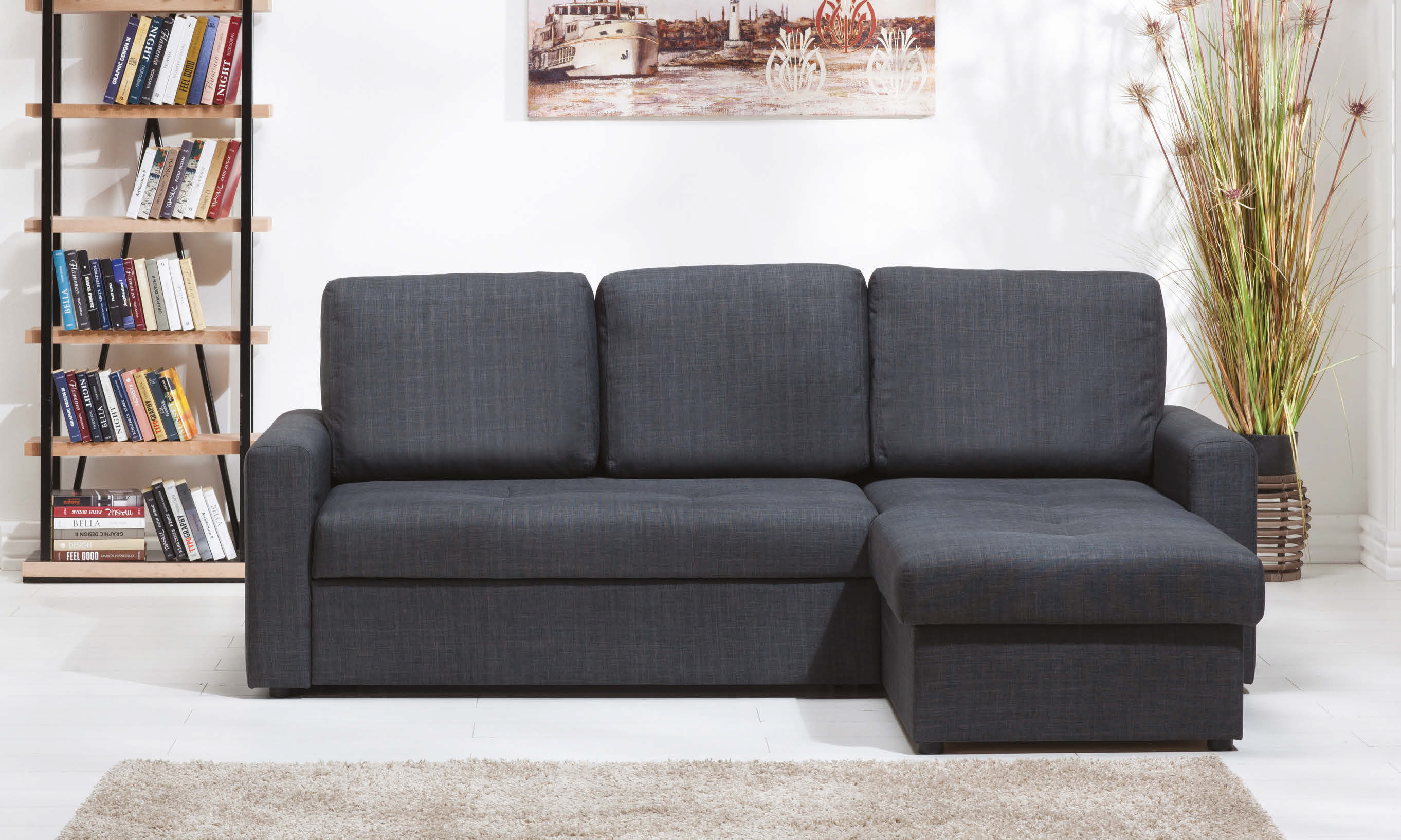 Flynn Coton Antrasit Sectional Sofa by Istikbal (Sunset)