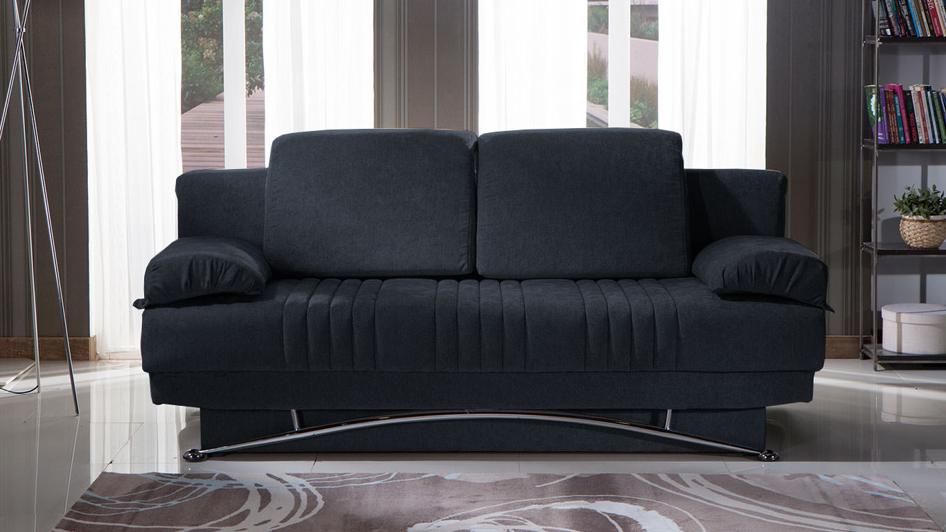 Fantasy Talin Black Convertible Sofa Bed By Sunset (Istikbal (Sunset  Furniture))