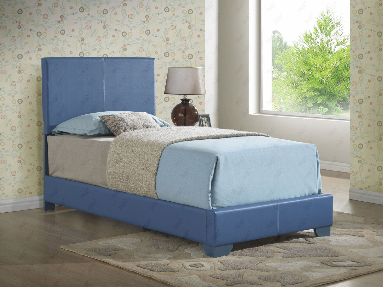 Twin Upholstered Bed with Mattress Set & Free Delivery in NYC (Glory  Furniture)