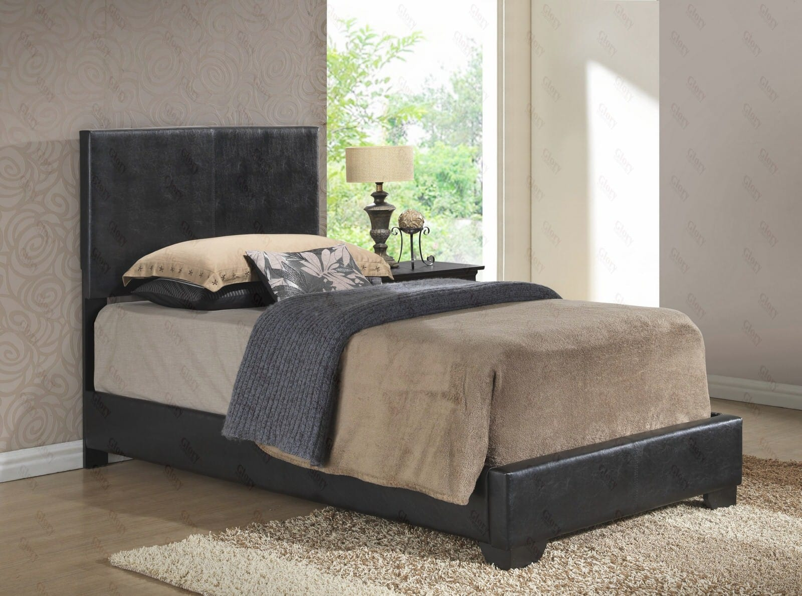 Twin Upholstered Bed with Mattress Set   Free Delivery in NYC  Glory  Furniture. Twin Upholstered Bed with Mattress Set   Free Delivery in NYC