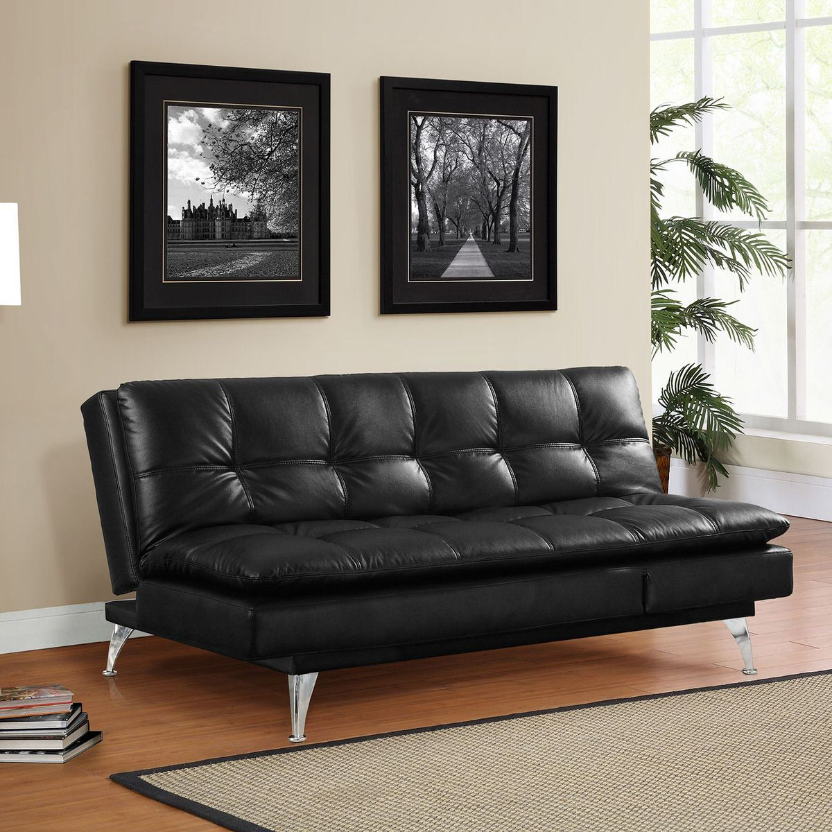 Gabrielle Setra Sofa Bed Black By Lifestyle Solutions (Lifestyle Solutions)