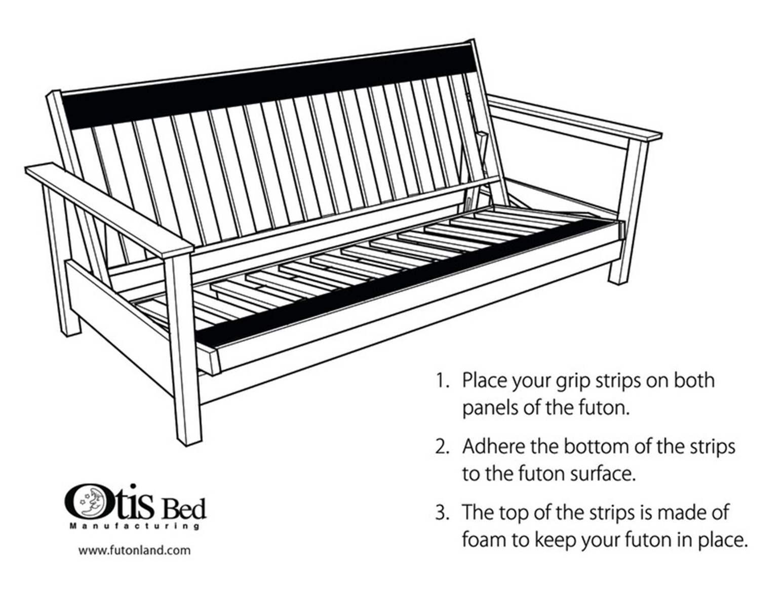 Futon Grip Strips By Otis Bed