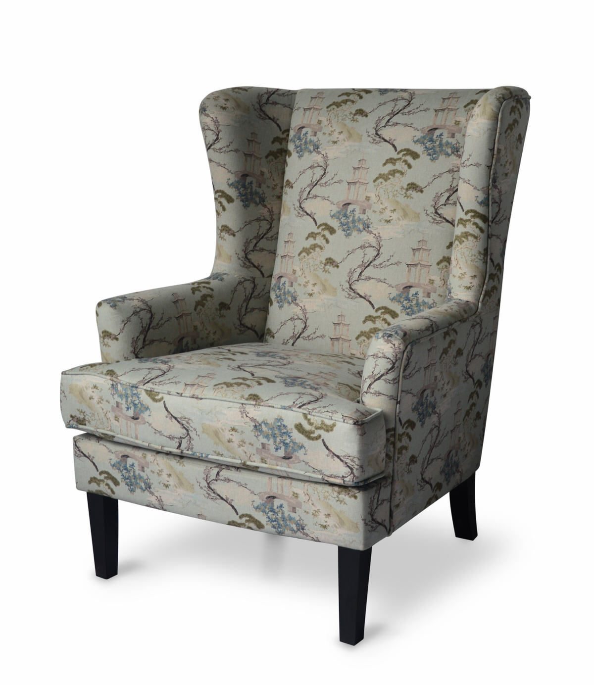Haiku Sky Teal Wing Chair By Jofran Furniture