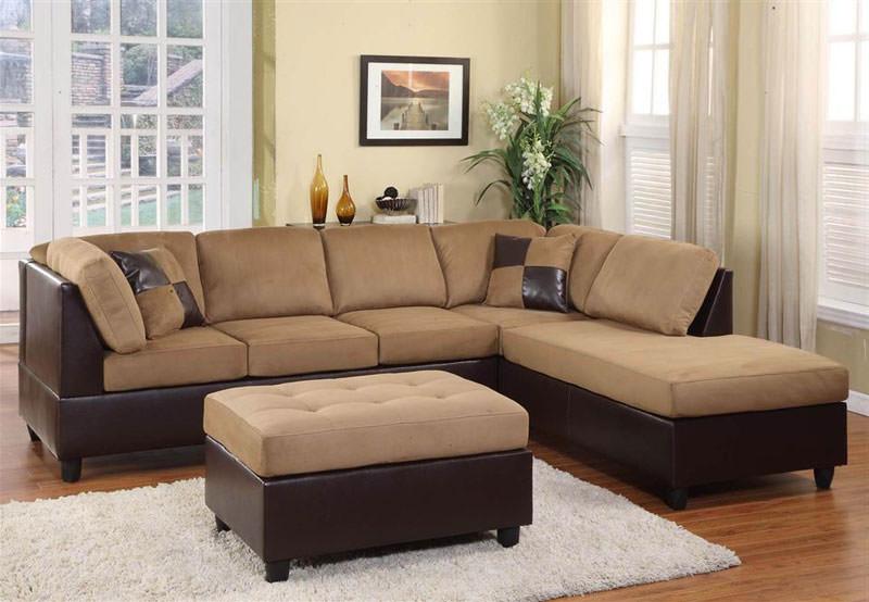 Magnificent 9909Br Brown Sectional Sofa Set By Homelegance Interior Design Ideas Gentotryabchikinfo