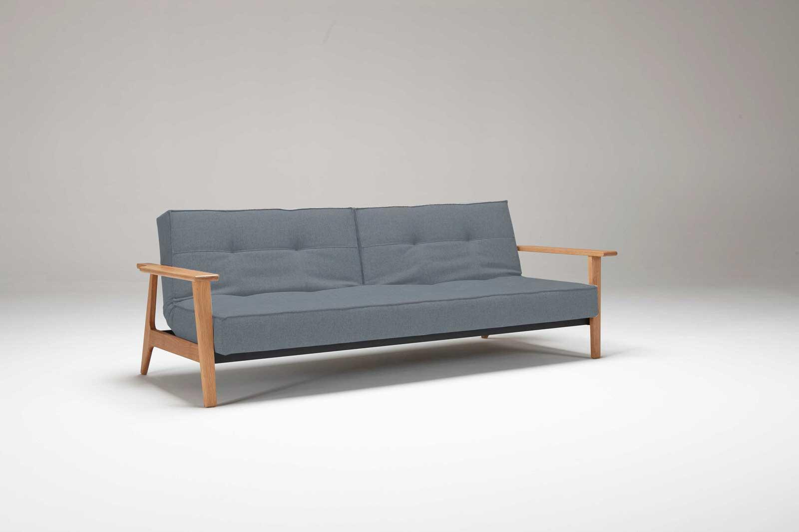 splitback sofa bed w frej arms mixed dance light blue by innovation. Black Bedroom Furniture Sets. Home Design Ideas
