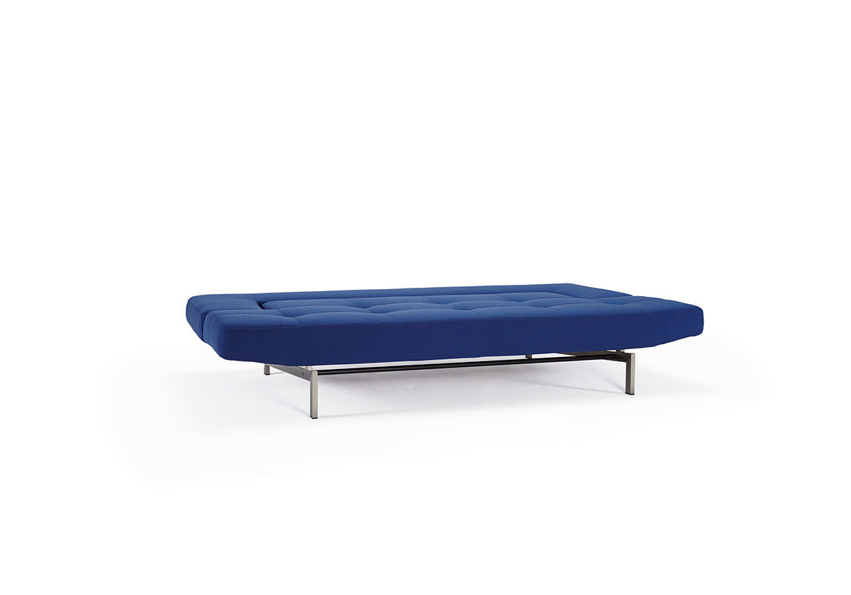 Wing Deluxe Sofa Bed Soft Sapphire Textile by Innovation : HOME 2015 WING STAINLESS STEEL 553 SOFT SAPPHIRE BED POSITION from www.functionalfurniturenyc.com size 1200 x 840 jpeg 27kB