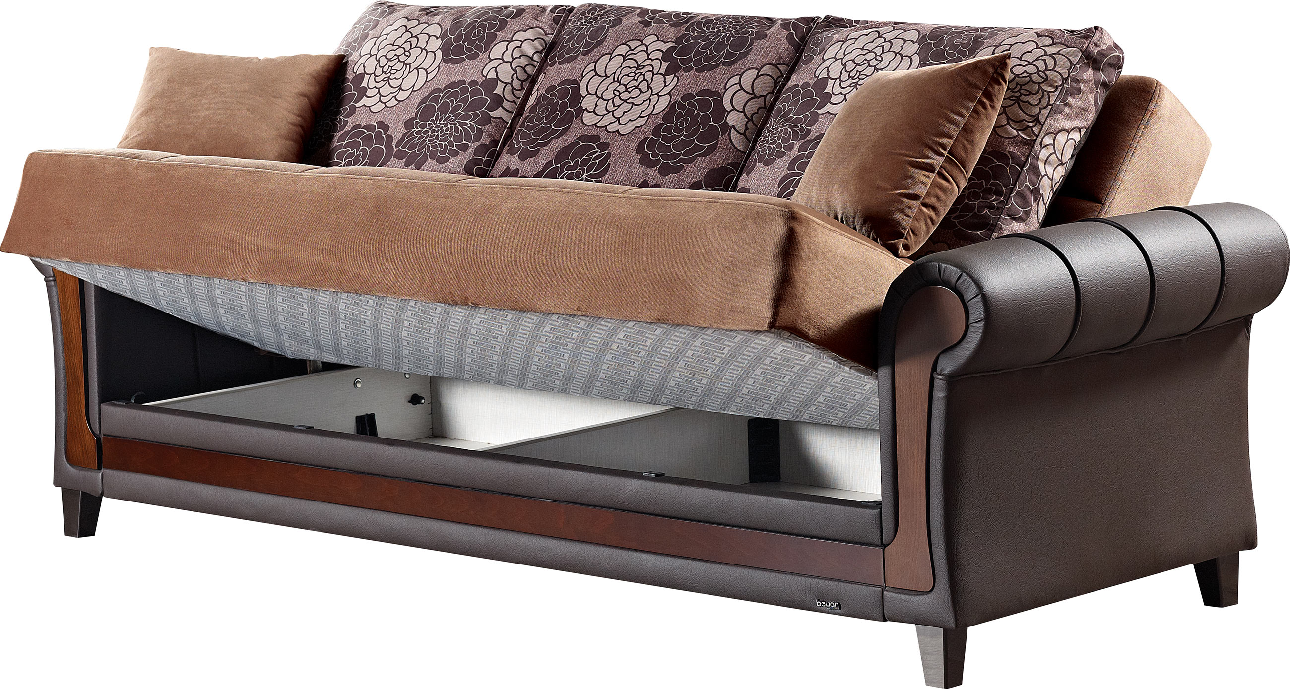 Idaho brown fabric sofa bed by empire furniture usa for Sofa bed usa