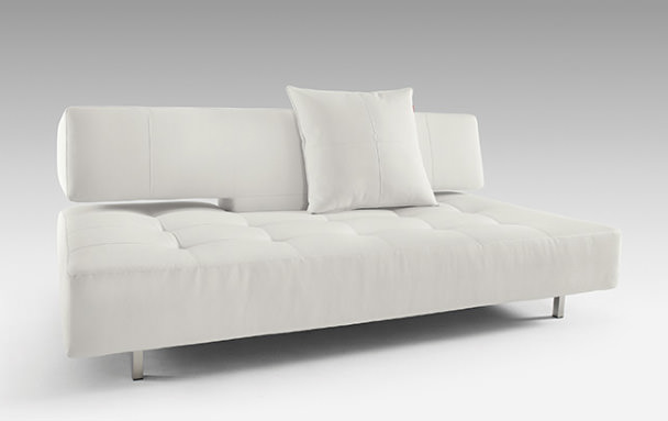 long horn deluxe excess sofa bed white leather textile by innovation rh functionalfurniturenyc com long sofa bench long sofa bed